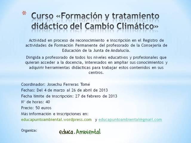 Tratamiento didáctico del cambio climático